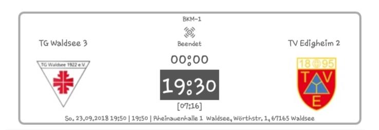 Edigheim II mit sehenswerter Vorstellung in Waldsee / 19:30 Auswärtssieg